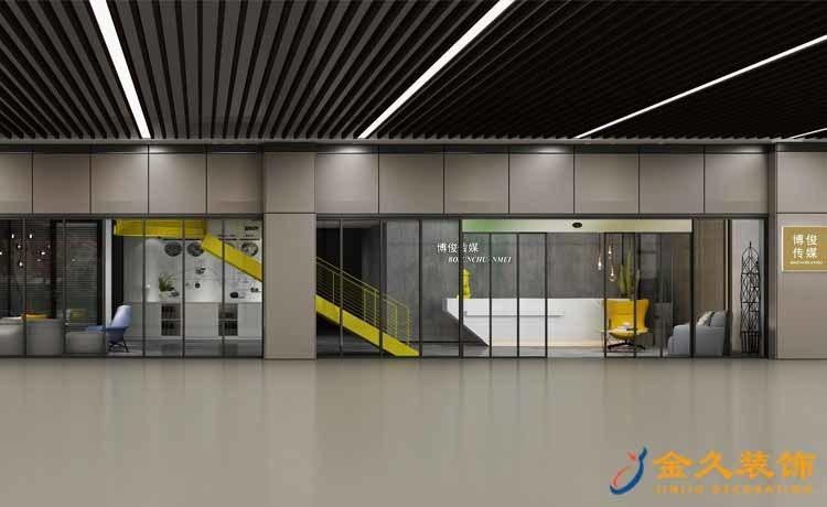 工业风办公室装修效果图-博骏家居公司