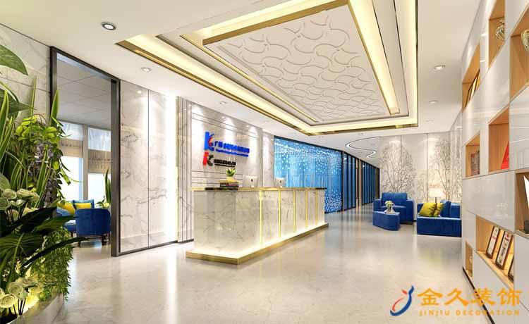 现代简约办公室装效果图-康朝药业公司