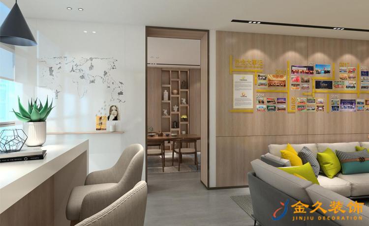 现代简约广州办公室装修设计效果图-定制家居协会