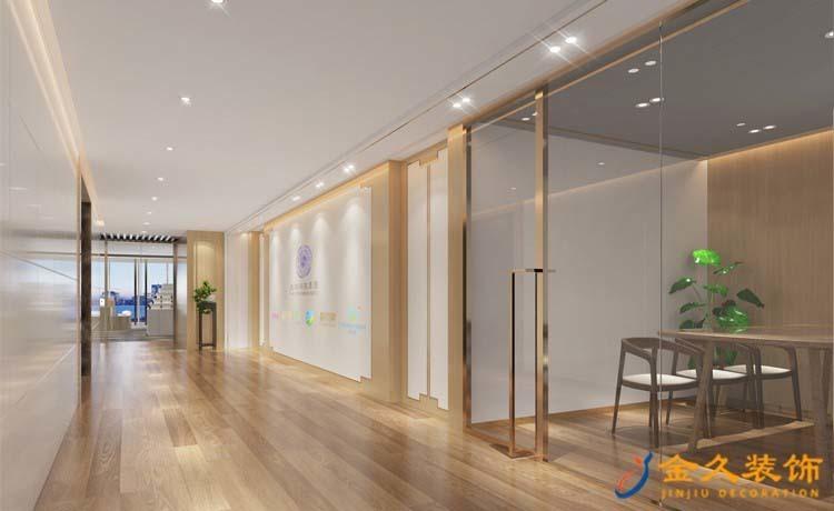 870㎡中式风格办公室装修设计效果图-电化贸易