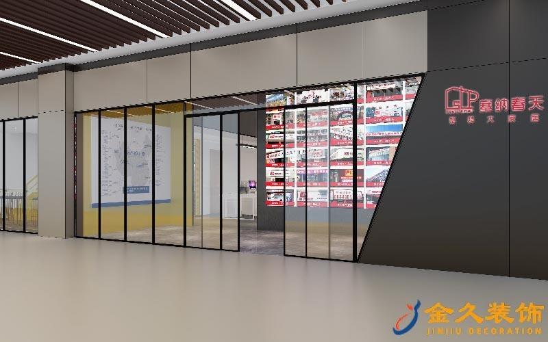 办公室大门装修设计效果图