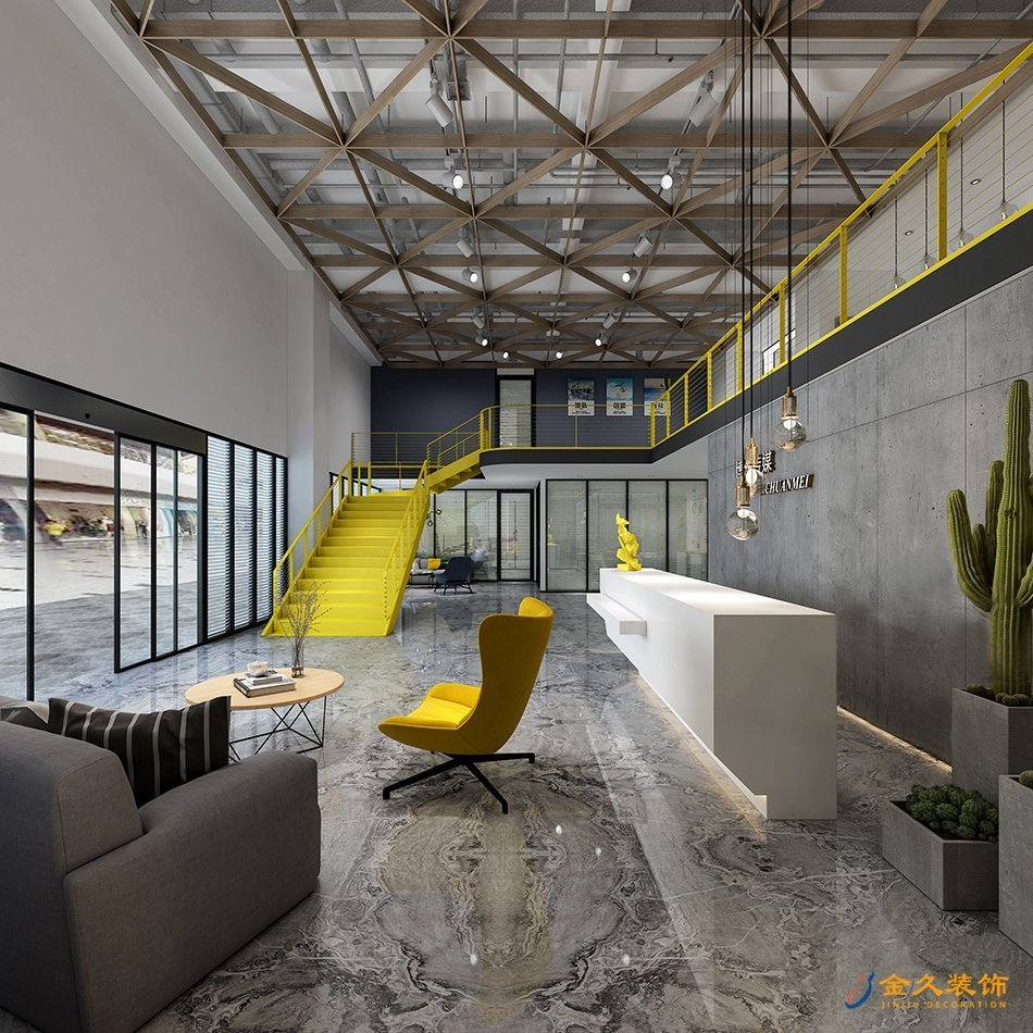 办公室大厅装修设计效果图