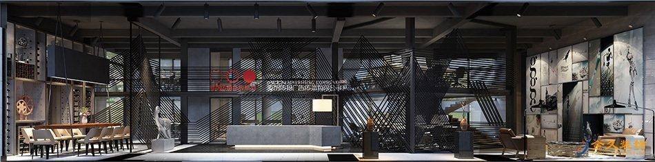 辦公室前廳裝修設計效果圖