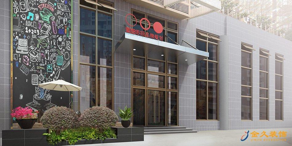 1000平办公室装修设计效果图-麦智传扬品牌