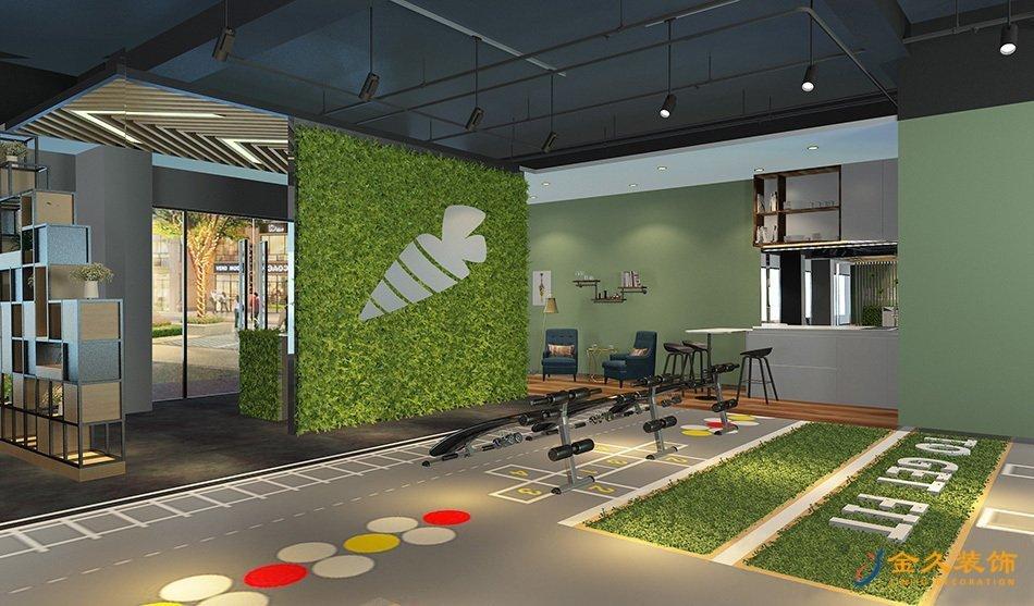 工業風廣州健身房裝修設計-私教健身
